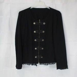 Jackets & Blazers - BLACK ZIPPER CLOSURE BLAZER SIZE XL💥💥